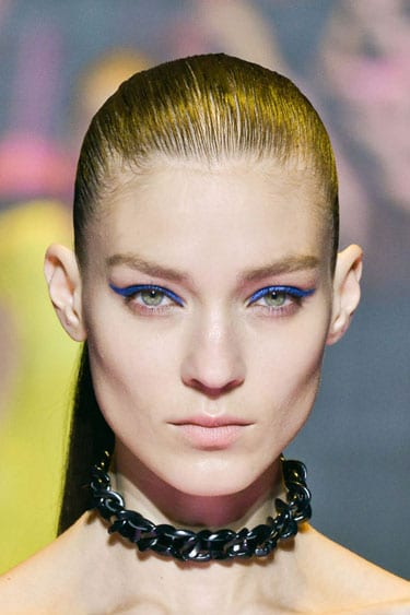 hbz makeup trend ss13 blue green eyes versus lgn tuesday tip: colored eyeliner | beauty